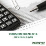 detrazioni fiscali 2018